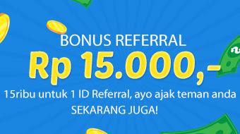 Bonus referral 15 RIBU