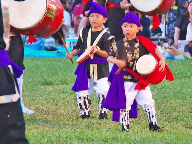 children, drums, dance, Eisa, festival, Kin Town, matsuri, Okinawa