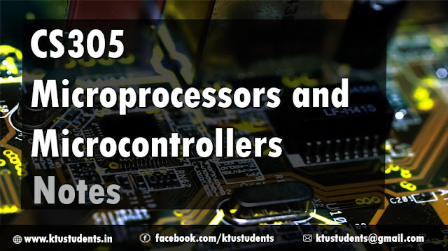 CS305 Microprocessors and Microcontrollers