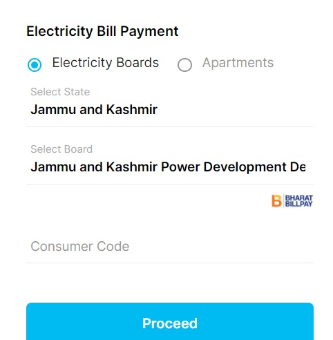 jkpdd bill payment with paytm