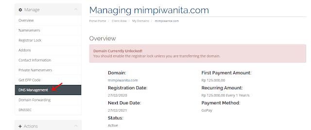Pengaturan DNS di RumahWeb untuk Custom Domain