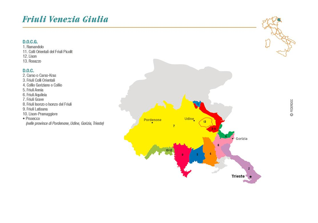 Friuli Italy Map.Vino Travels An Italian Wine Blog Overview On The Wine Region Of