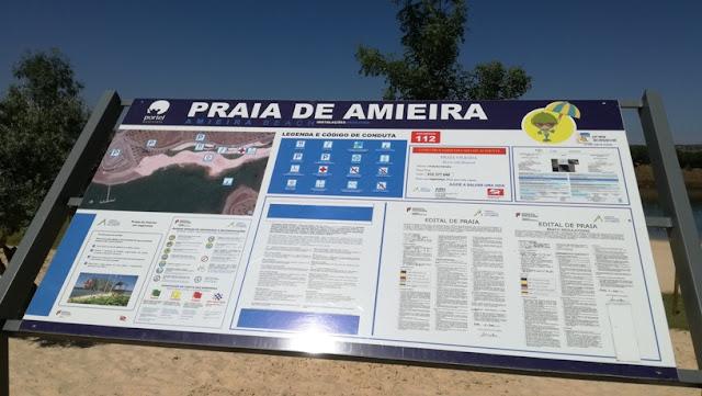 Praia  de Amieira - Painel de Informação