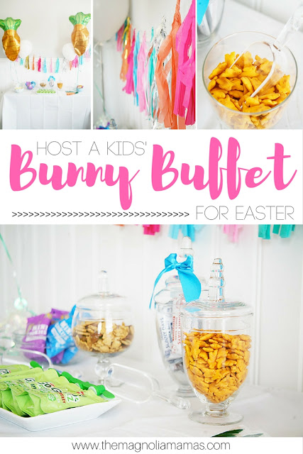 Host a Kids' Bunny Snack Themed Buffet for Easter. Great Easter party idea!