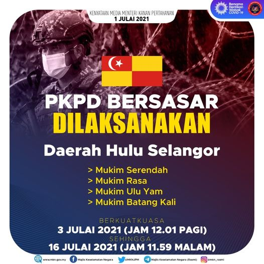 PKPD bersasar di Daerah Hulu Langat, Selangor