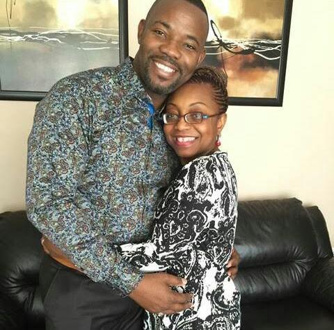 Okey Bakassi and wife