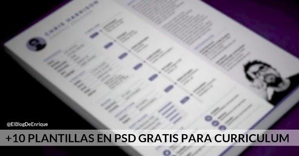 +10 plantillas de Curriculum creativo en PSD 2017 gratuitos