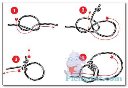 Langkah-langkah membuat simpul tali laso