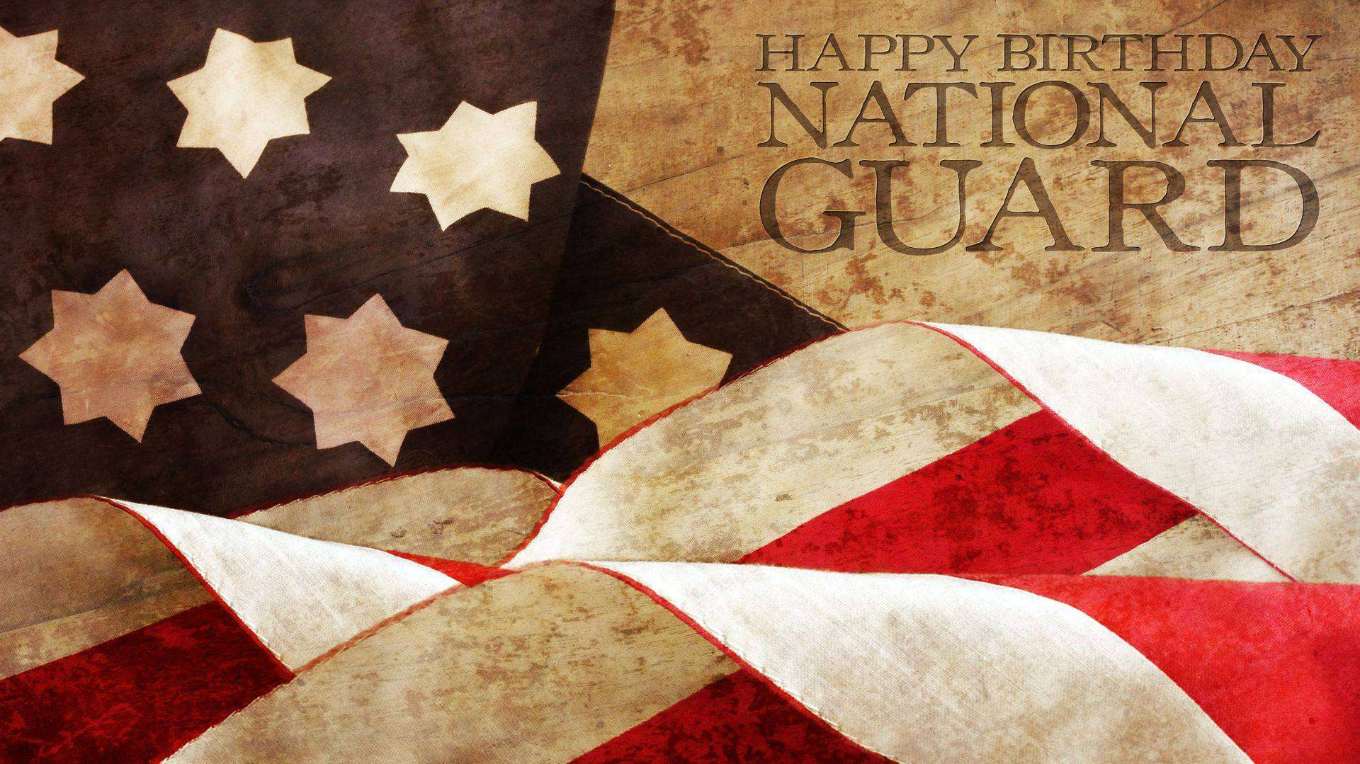 U.S. National Guard Birthday Wishes Beautiful Image