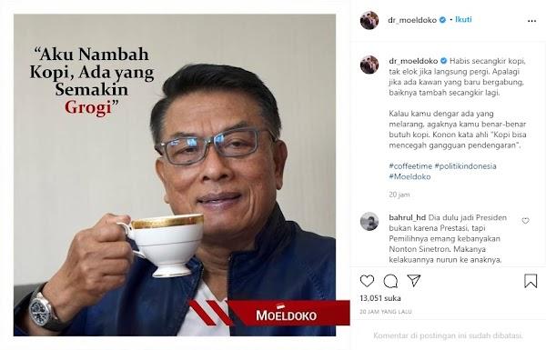 Kudeta Gagal Berujung Saling Sindir, Moeldoko Nambah Kopi, Politisi Demokrat Ngaku Geli