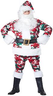 Camoflage Santa Costume