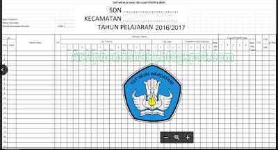 Contoh Format administrasi  Guru kelas Format Excel 2016-2017 | Arsip Bendahara