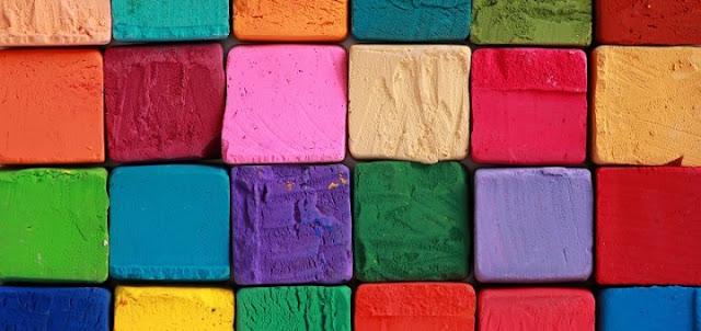 الألوان الأساسيه والألوان الثانويه