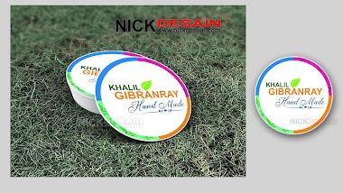Contoh Desain Logo Olshop Bulat dan Cetak Stiker Label - Percetakan Tanjungbalai