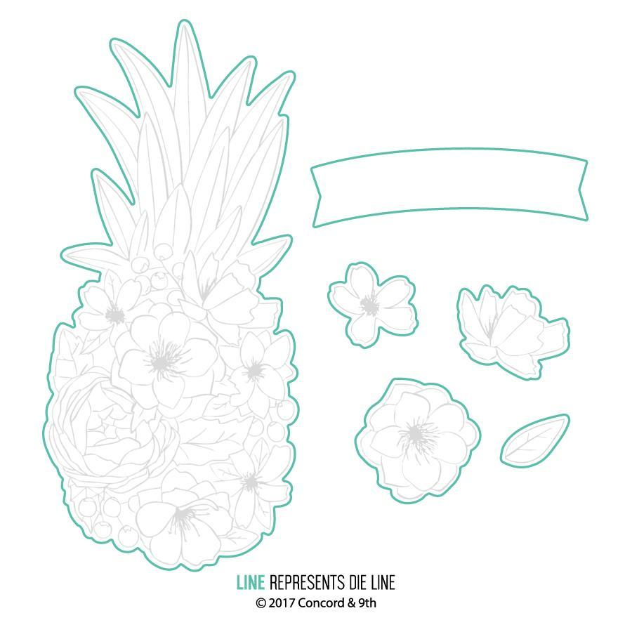 Concord and 9th Pineapple Perfection Die Cuts