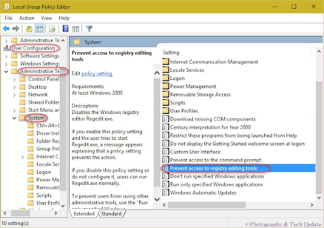 Prevent access to Windows Registry Editor