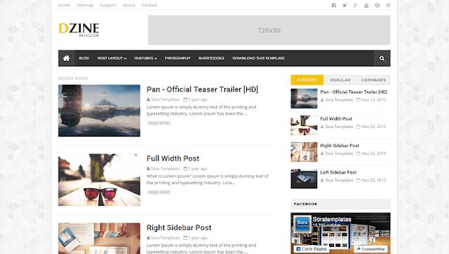 Dzine Blogger Teması