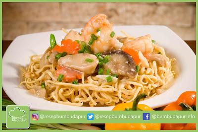 Resep Mie Kering Saus Seafood