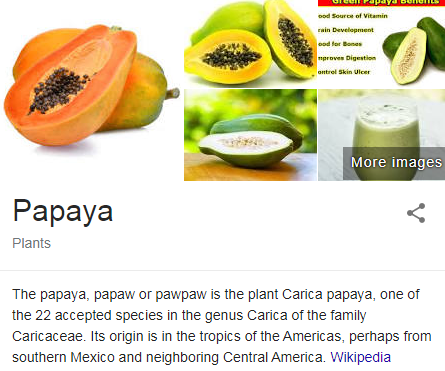 Raw Papaya