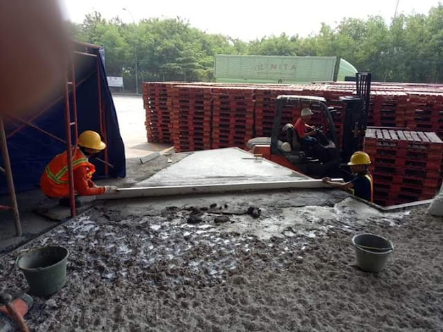 Perbaikan Lantai beton mengelupas | Concrete Repair