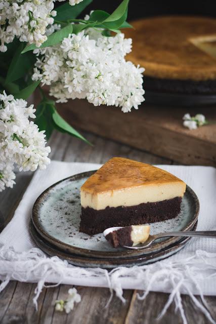 Gâteau flan chocolat vanille
