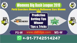 Who will win Today WBBL 2019, 18th Match MS-W vs PS-W 18th, WBBL T20 2019