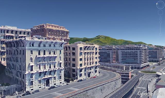 Сборка 3D моделей окружающих зданий в городе Генуе
