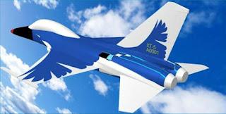 Ilustrasi AIDC XAT-5 Blue Magpie