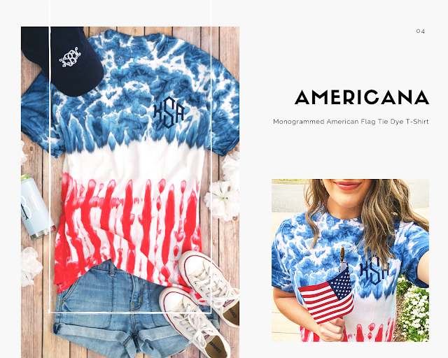 americana tie-dye t-shirt from marleylilly.com