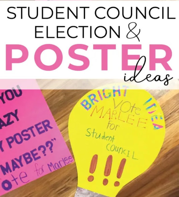 Text-like Poster - Student Council Poster Ideas