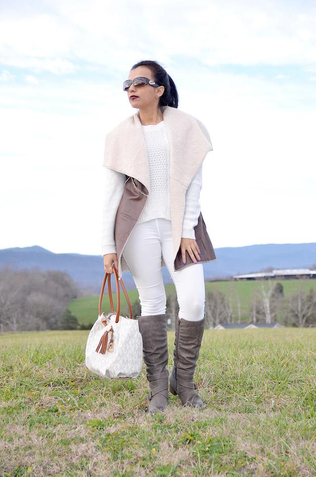 Comfy Outfit-Winter Style - Mari Estilo -Latina Blogger - Vest Outfit