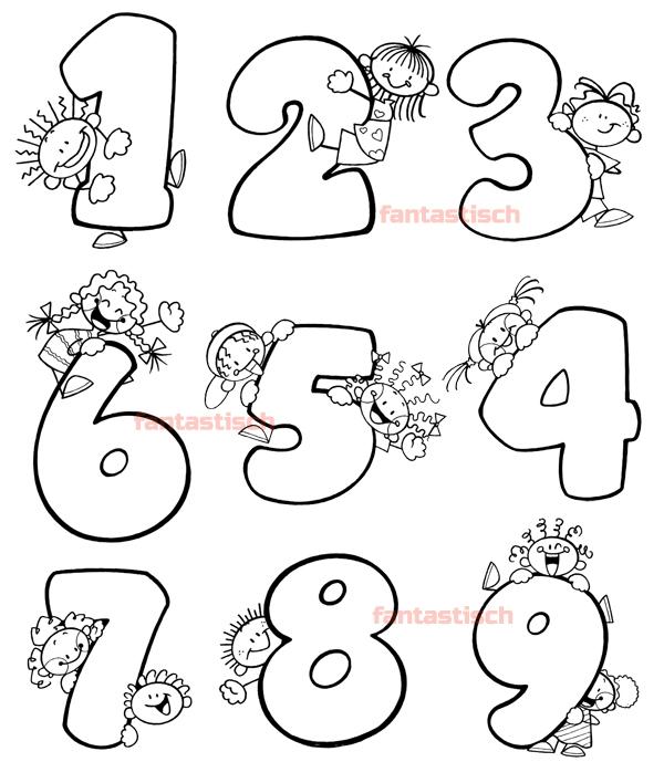 Цифры Раскраски От 1 До 10 Картинки Для Печати
