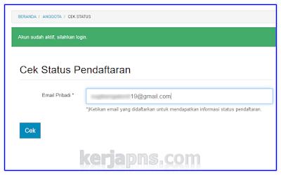 cek status pendaftaran operator sekolah