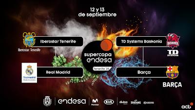 Sorteo Supercopa Endesa Tenerife 2020