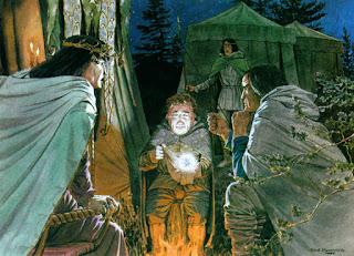 Bilbo entrega la Piedra del Arca