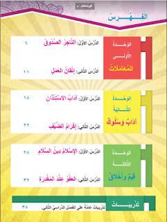 كتاب التربية الاسلامية الصف الرابع الابتدئى الترم الثانى المعاهد الأزهرية