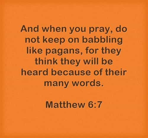 Verses and quotes on prayer from the Bible