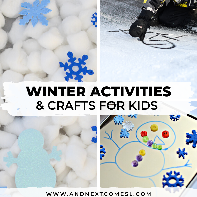 Indoor and outdoor winter activities for kids
