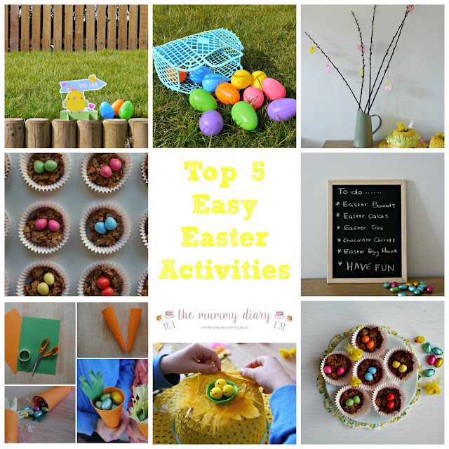 Top 5 Easy Easter Activities for Children. Easy to make crafts, baking and ideas for easter fun.