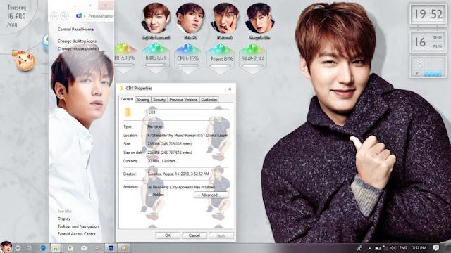 Windows 10 Ver. 1709 Theme Lee Min Ho by Enji Riz