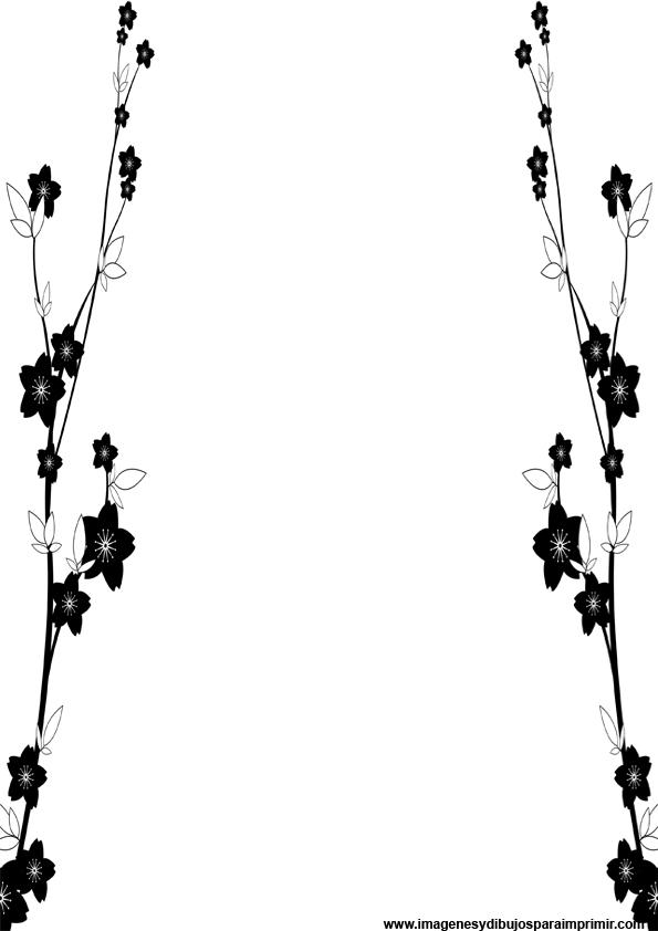 Hojas decoradas en blanco y negro para imprimir | Imagenes y dibujos ...