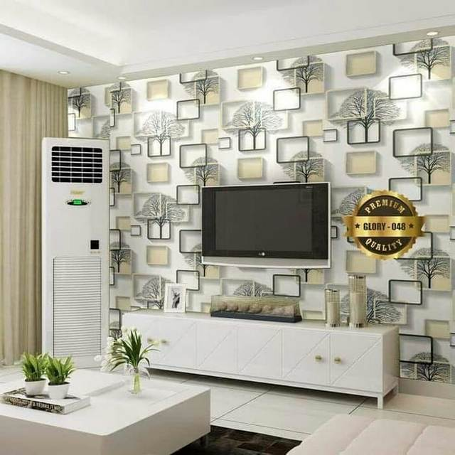 Wallpaper Dinding Motif Kotak