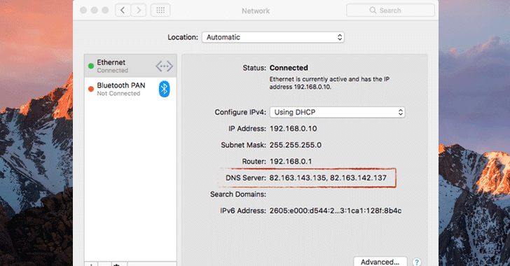 Warning: New Undetectable DNS Hijacking Malware Targeting Apple macOS Users