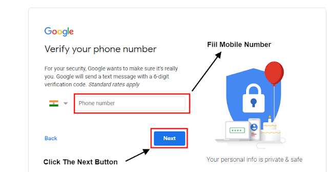 Mobile Number fill करना