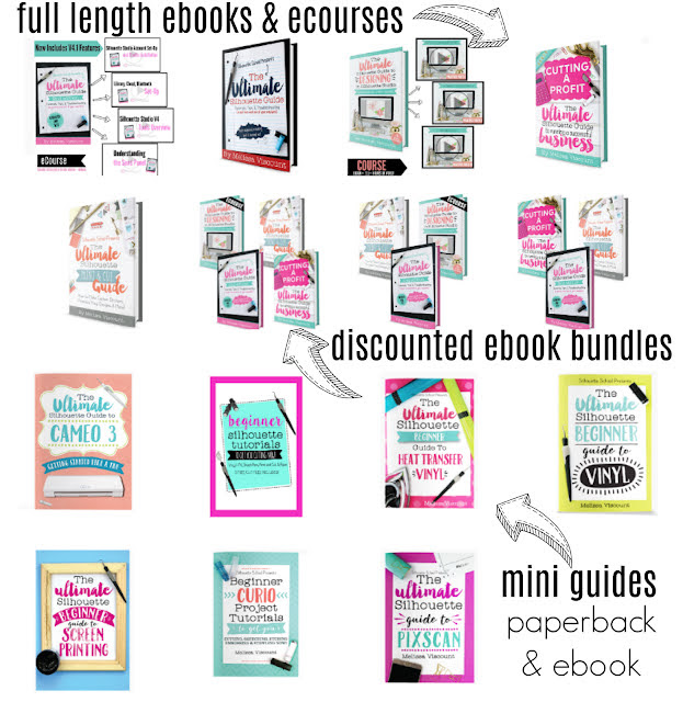 silhouette gift guide, ebooks, eguides, help books, silhouette help