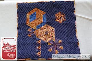 Modern Mini swap quilt