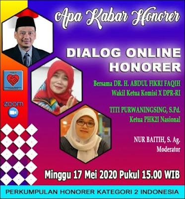 Honorer K2 Rapat Daring dengan Komisi X DPR RI, Fikri : Mestinya Honorer K2 Memang Diangkat PNS
