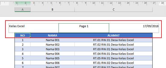 Menyisipkan Header & Footer Pada Microsoft Excel