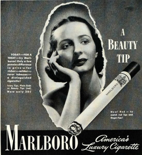 Marlboro advertising 1941