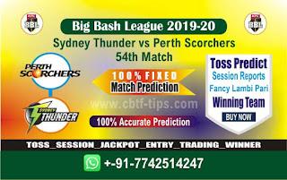 cricket prediction 100 win tips Thunder vs Perth